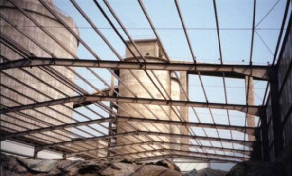 司熟料钢结构堆棚